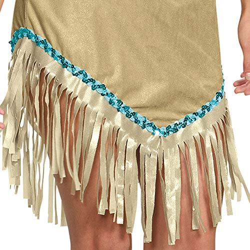 Disguise Womens Deluxe Pocahontas Costume Small Brown