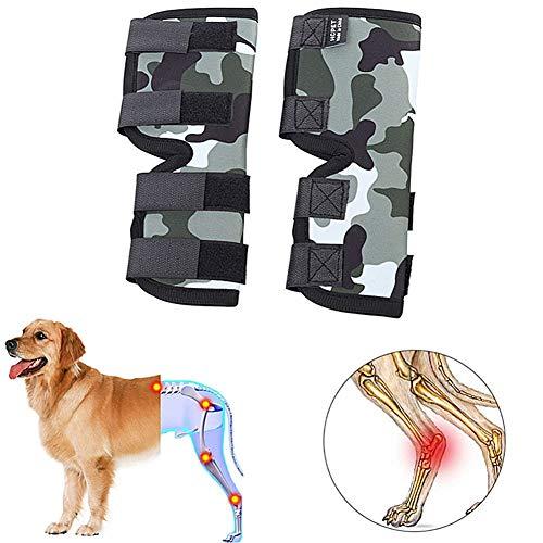Bandage Hund Kniebandage Hund Hundebeinstütze Gelenkpflege für Hunde Hundebein-Wundschutz Unterstützung für das Hinterbein des Hundes s