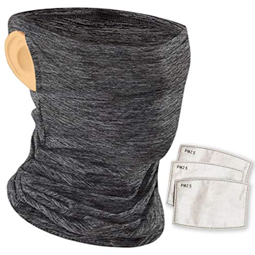 ZORAA UnitedVStand Neck Gaiter Face Mask with Filter - 2.5 Micron Particulate Filtered Protection with Ear Loops - Comfortable, Stretchy, Breathable Cloth - Multifunctional Headband, Balaclava, Scarf