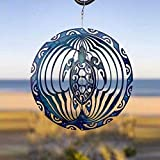 Sea Turtle Wind Spinner Ornament Spinner Turtle Kinetic 3D Metal Outdoor Garden - Hanging Wind Spinner, Kinetic Indoor Outdoor Garden Yard Art Decorations Crafts Ornaments
