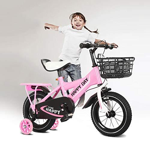 NEWPIN Verlichte jongen kinderfiets BoysbicycleMet achterbank, Uitgerust met een ergonomische stoel, veiligheidsstuur grepen, stille wielen en schokbestendige poedercoating