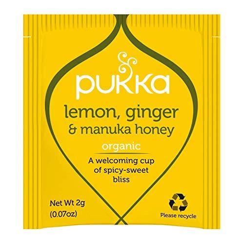 Pukka Herbs Lemon, Ginger and Manuka Honey Organic Herbal Tea 1000 Sachets Box