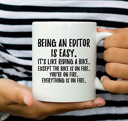 Divertida taza de café, editor, regalo de editor, taza de café, taza de café de 325 ml, regalo para mujeres y hombres