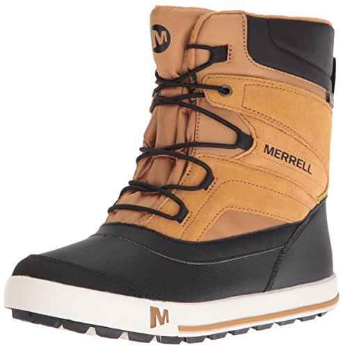 Merrell Kids' Unisex Ml-Snow Bank 2.0 Wtrpf Boot, Wheat/Black, 4 M US Big Kid