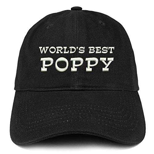poppy merches Trendy Apparel Shop World's Best Poppy Embroidered Soft Crown 100% Brushed Cotton Cap