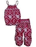 Toddler Girls Clothes Romper Jumpsuit, Elephant Straps Tops+Harem Pants 2Pcs Outfit Set 2-3T Red