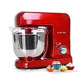 Klarstein Gracia Rossa - Küchenmaschine, Rührmaschine, Knetmaschine, 1000 W, 1,3 PS, 5 Liter,...