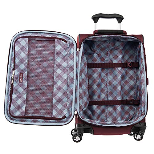 Travelpro Maxlite 5-Softside Expandable Spinner Wheel Luggage, Burgundy, Carry-On 21-Inch