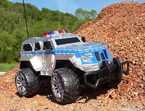 RC Monstertruck kaufen Monstertruck Bild 1: RC Jeep SWAT POLICE mit LICHT & AKKU 1:12 Länge 39cm Ferngesteuert 27MHz*