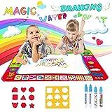 Reastar Wasser Doodle Matte, 80x60cm Magic Doodle Matte mit 4 Magischer Stift und 2...