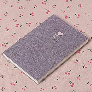 Durable Office Supplies, Pvc Notebook Fun Office Supplies, Shiny Mini Jersh-school&office Supplies for Paper Agenda Schedule Office (Color : Silver, Size : 75x110mm)
