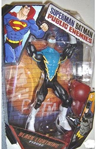 DC - Superman Batman - Public Enemies - Action Figur - schwarz Lightning - Build mit Brimstone