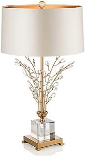 WYBFZTT-188 Moderne Lampe de Table en Cristal Clair Verre Colonne Abat-Jour Tambour for Salon Famille Chambre Chevet Table...
