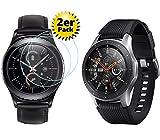 Smartphone-Equipment [2er Pack] 9H-Schutzglas für Samsung Gear S3 Classic/Gear S3 Frontier/Samsung Galaxy Watch 46mm für das 1,3 Zoll Display Echt-Hartglas 9H, Displayschutz Panzerfolie Glas