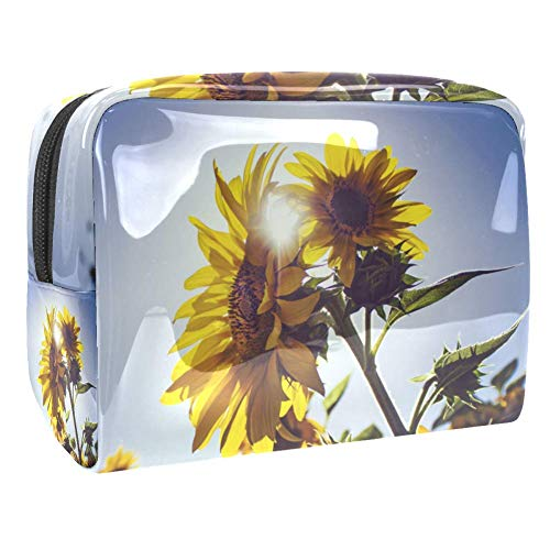 Maquillage Cosmetic Case Multifunction Travel Toiletry Storage Bag Organizer for Women - Sunflower Sunset