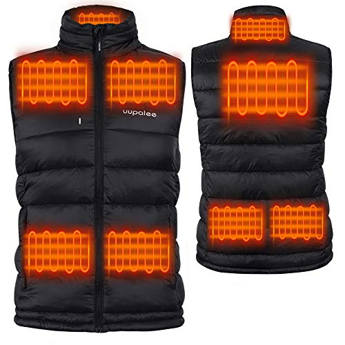 Men s Heated Vest Outdoor Jacket Rechargeable Lightweight Windproof Soft Shell L