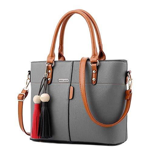 Darash Fashion Womens PU Tot Bags, oteawe Women Purses and Handbags Casual Crossbody Shoulder(Grey)