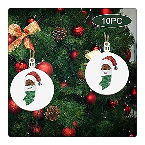 Tihuunwz 10PC Christmas Decorations Santa Gift,Personalized Santa Claus of Ornament 2020 Christmas Holiday Decorations 1374