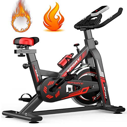 GLXYFC Cyclette,Spinning Bike Ergonomica, ciclette per casa,ellittica da casa Salvaspazio,Silenzio Fitness, Strumento di visualizzazione Digitale a LED