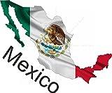 15cm! Aufkleber-Folie Wetterfest Made IN Germany Mexiko Mexico UV&Waschanlagenfest Auto-Sticker Decal Fahne Flagge Wappen Land FD100 Profi Qualität bunt farbig Digital-Schnitt!