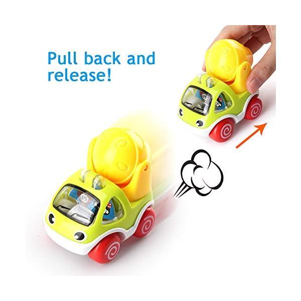 Amy & Benton Juguete Coches,Vehículos Camiones De Juguete, 6PCS Tire hacia Atrás el Coche de Juguetes para Niños Niñas