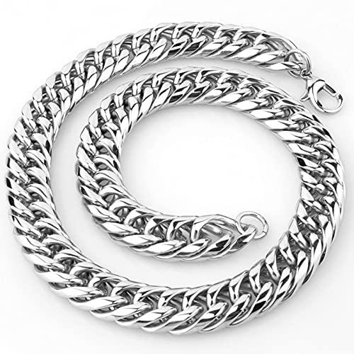 9/11/13/16/19 mm para hombre/mujer collar de cadena de eslabones cubanos cadena de eslabones de 7 a 40 pulgadas