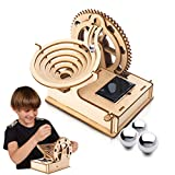 Marble Run 3D Wooden Puzzle for Adults and Teens,DIY Model Craft Kit,Educational Building Toys, STEM Projects Science Experiments Runs on Solar,Birthday Gift for Boys/Children/Kids Ages 8-10-12-14