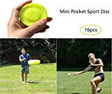 Mini Pocket Frisbee Flexible Soft, Flying Disc Catching Game Beach Outdoor Toys, Frisbee Spin Beach Outdoor Sports Toys para Adultos y niños (16PCS)