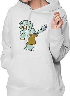 Danke Dabbing Squid-Ward Solo Women Pullover Hoodies Long Sleeve Hooded Drawstring Sweatshirt with Pocket