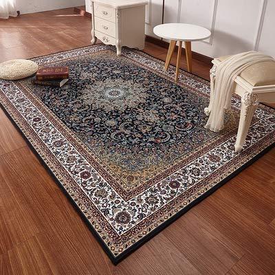Zhyyhz Bereich Teppiche Oriental Traditional Floral Carpet Leicht zu reinigen Fleck/Fade Resistant Shed Free Dicker weicher Plüsch für Wohnzimmer Esszimmer,A,5.2ft*7.5ft