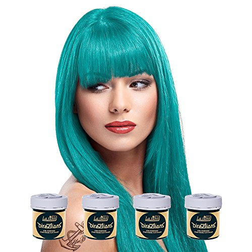 La Riche Directions Semi Permanent Turquoise Hair Colour Dye x 4