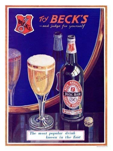 Iposters Becks Bier 1932 Aufdruck - 40 X 30 cm ( Ca. 16 X 12 Inches)