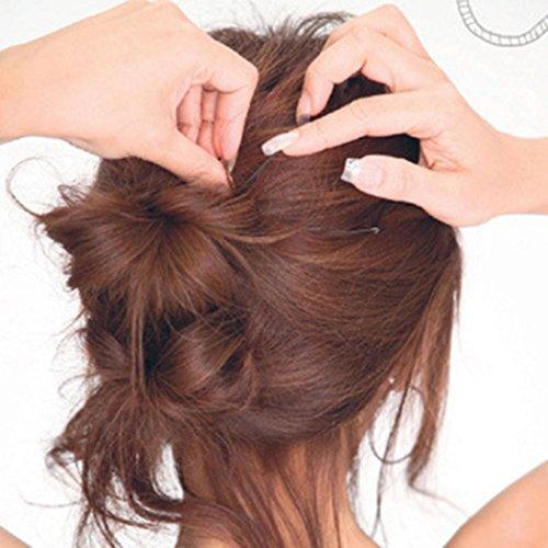 50 pcs ondulées en forme de U Pinces Bobby Pin Barrette Salon Grip Pince à cheveux Epingle