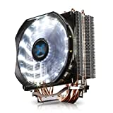 Zalman CNPS 9X Optima CPU Cooler, Ultra Quiet Air Cooler with White LED 120mm Fan, Direct Touch Heat-Pipes, 180W TDP, 4 Heat Pipes, 60.89 CFM Airflow, Pure Copper and Aluminum - Fits Intel and AMD