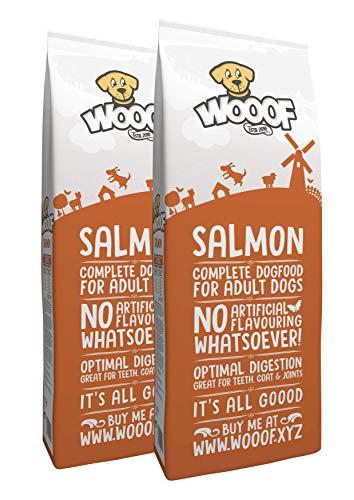 WOOOF Lachs 36kg kaltgepresstes Hundefutter mit Fisch | Purinarmes Trockenfutter, ohne Weizengluten