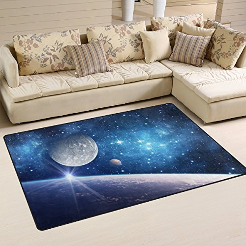 My Little Nest Space Galaxy Planet Stars Modern Area Rug 3'3' x 5' for...