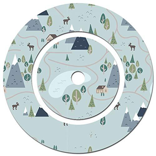 yabaduu Schutzfolie Schutzcover für Ladestation der Toniebox Passgenau Selbstklebend Kindgerecht Folie Zubehör für Kinder Spielzeug Y046 (Nr.7 Landschaft Blau, Ladestation Folie)