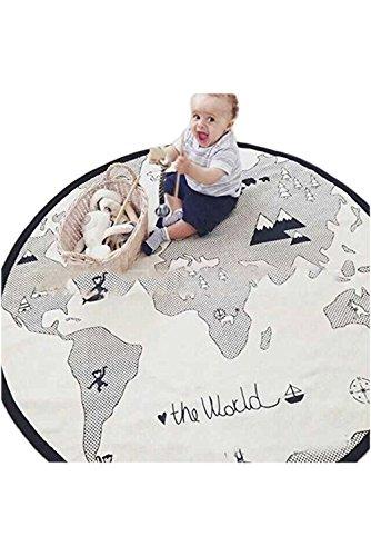 11MONO 特大 世界地図柄 ラグ アドベンチャーラグ プレイマット M304aF
