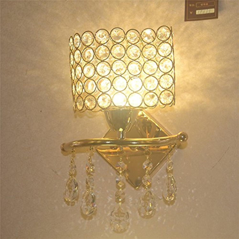 Wandbeleuchtung,Moderne, einfache Golden Schlafzimmer Bett Wandleuchte Gang Lampe Restaurant Treppe Wandleuchte Crystal Wandleuchte Led
