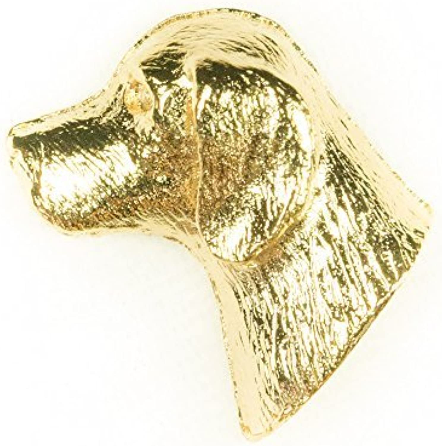 BEAGLE Made in U.K Artistic Style Dog Clutch Lapel Pin Collection 22ct Gold Plated by DOG ARTS JP