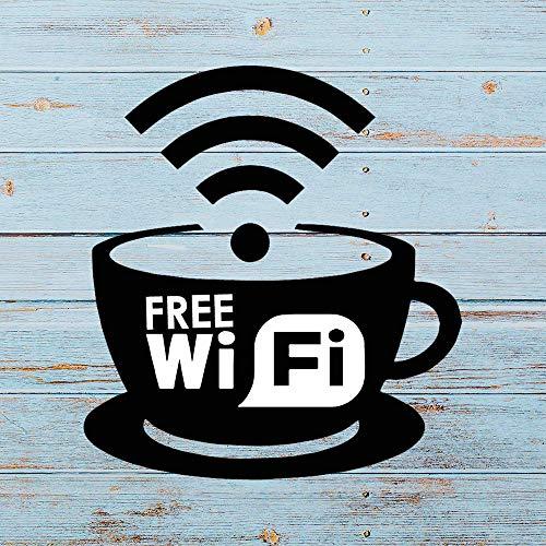 Gratis WiFi Koffie auto Sticker, Vinyl Auto Decal,Decor voor Raam, Bumper, Laptop,Muren, Computer,thmbler,Mok, Beker, Telefoon, Vrachtwagen, Auto Accessoires