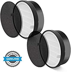 Use only genuine LEVOIT lv-h132 replacement filters to keep your air purifier at its best working condition and capacity Fine preliminary, true hepa filter and activated carbon filter. It removes 99.97% of dust, pollen, smoke, odor, mold spores, and ...