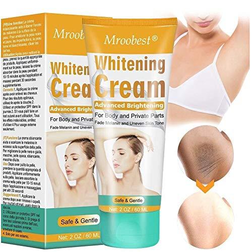 Body Cream, Underarm Cream for Armpits, Intimate Parts, Between Legs, Effective Cream Nourishes, Moisturizes Underarm, Neck, Knees