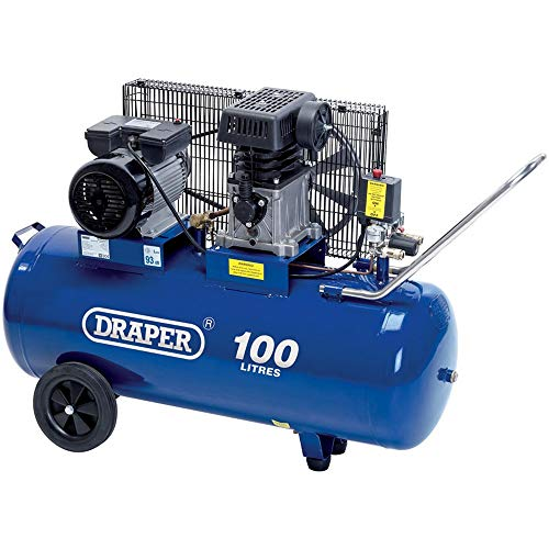 Draper 31254 Belt-Driven Air Compressor, 100L, 230V 2.2KW, 3HP