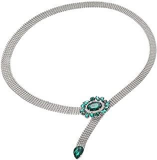 Baoblaze Women's Dress Body Chain Metal Belt Waist Chain Body Jewelry Belly Chains With Crystal Rhinestone