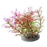 CUHAWUDBA Planta Plastico Decoracion para Acuario Pecera Color Rosa Verde 10cm