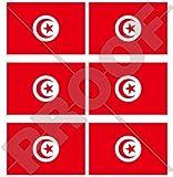 Tunesien Tunesische Flagge Tunisie 40mm (40,6cm) Mobile Handy Vinyl Mini Sticker, Aufkleber X6