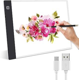 Guiseapue Tablette Lumineuse, A4 LED Table Lumineuse Ultramince Portable Dessin Copie avec Luminosité Réglable pour Enfant...