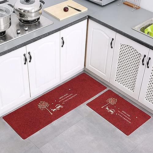 HLXX Alfombras de trébol Felpudos Alfombras para Cocina Baño Inodoros Sala de Estar Puerta de Entrada Piso Escalera Dormitorio Pasillo Antideslizante A11 50x160cm