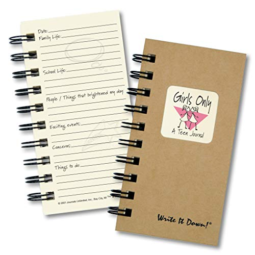 Girls Only, A Teen Journal � MINI Kraft Hard Cover (prompts on every page, recycled paper, read more...)